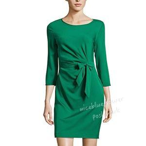 Diane Von Furstenberg green silk wrap dress New 8